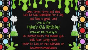 Mad Scientist Birthday Party Invitations Mad Science Birthday Party Invitations