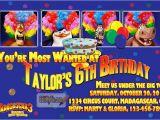 Madagascar Birthday Invitations Madagascar 3 Birthday Party Invitation Custom Printable