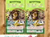 Madagascar Birthday Invitations Madagascar Backstage Pass Ticket Concert Invitations