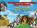 Madagascar Birthday Invitations Madagascar Birthday Invitations Candy Wrappers Thank You