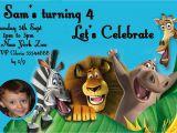 Madagascar Birthday Invitations Madagascar Birthday