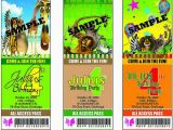 Madagascar Birthday Invitations Madagascar Birthday Ticket Invitation Madagascar theme