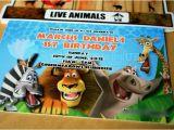 Madagascar Birthday Invitations Swatches Hues Handmade with Tlc Madagascar themed