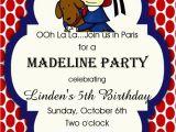 Madeline Birthday Party Invitations Madeline Birthday Party