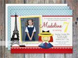 Madeline Birthday Party Invitations Madeline Inspired Birthday Invitation