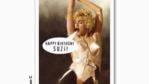 Madonna Birthday Card Madonna Happy Birthday Card Personalized Madonna Card Super