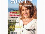 Magazine Cover Birthday Invitations Magazine Cover 60th Birthday Party Invitation Zazzle
