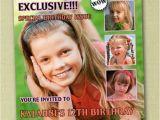 Magazine Cover Birthday Invitations Magazine Cover Birthday Invitations You Print