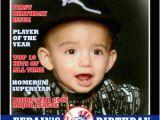 Magazine Cover Birthday Invitations Sports Illustrated 1st First Birthday Magazine Cover