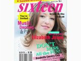 Magazine Cover Birthday Invitations Sweet 16 Magazine Cover Birthday Invitation Zazzle Com Au