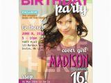 Magazine Cover Birthday Invitations Sweet 16 Magazine Cover Birthday Invitation Zazzle