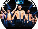 Magic Mike Birthday Card 7 5 Personalised Magic Mike Edible Icing or Wafer Cake top