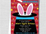 Magic Show Birthday Invitations Boy Magic Birthday Party Invitation Magic by Katarinaspaperie