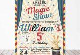 Magic Show Birthday Invitations Magic Party Invitation Magic Birthday Invitation Magician