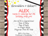 Magic Show Birthday Invitations Magic Party Invitations Template Birthday Party