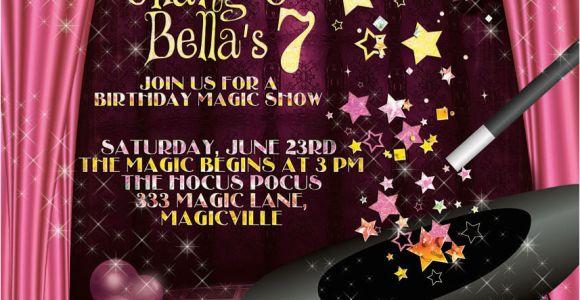 Magic Show Birthday Invitations Magic Show Invitation Magic Show Party Party Invitations