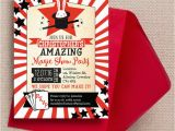 Magic Show Birthday Invitations Magic Show Party Invitation From 0 80 Each