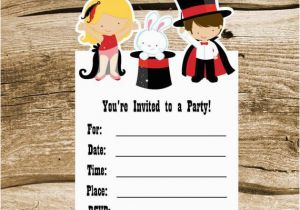 Magic Show Birthday Invitations Magic Show Party Set Of 8 Magic Show Invitations by the