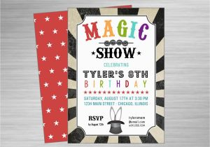 Magic Show Birthday Invitations Magic Show Printable Party Invitation