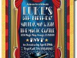 Magic Show Birthday Invitations Magician Magic Show Birthday Invitations Di 367