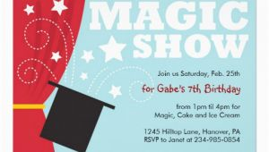Magic Show Birthday Party Invitations Magical Birthday Quotes Quotesgram