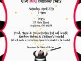 Magic themed Birthday Invitations Birthday Party theme Magic Her Life Inspired