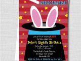 Magic themed Birthday Invitations Boy Magic Birthday Party Invitation Magic by Katarinaspaperie