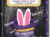 Magic themed Birthday Invitations Magic Party Magician Birthday Invitations Di 636fc