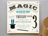 Magic themed Birthday Invitations Magic Show Children 39 S Birthday Party Invitations Minted