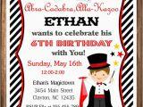 Magic themed Birthday Invitations Magician Party Invitation Magic Birthday Invitation