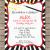 Magic themed Birthday Party Invitations Magic Party Invitations Template Birthday Party