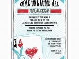 Magician Birthday Invitations 2 Plain Magic Show Birthday Party Invitations