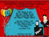 Magician Birthday Invitations Magic Birthday Party Invitations Bagvania Free Printable