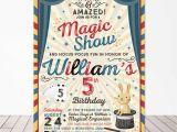 Magician Birthday Invitations Magic Party Invitation Magic Birthday Invitation Magician