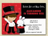 Magician Birthday Invitations Magic Show Birthday Party Invitation Magic Show Invitation