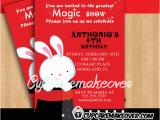 Magician Birthday Invitations Magic Show Birthday Party Invitation Personalized