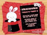 Magician Birthday Invitations Magic Show Birthday Party Invitation Printable