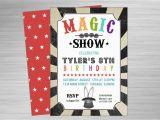 Magician Birthday Invitations Magic Show Printable Party Invitation