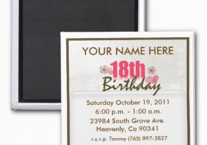 Magnet Birthday Invitations 18th Invitation Zazzle