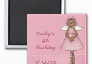 Magnetic Birthday Party Invitations Angel Birthday Invitation Magnet Zazzle