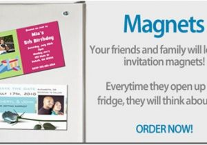 Magnetic Birthday Party Invitations Invite Magnets Archives
