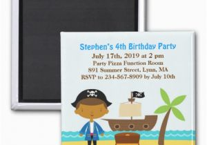 Magnetic Birthday Party Invitations Pirate Birthday Party Invitation Magnet Zazzle