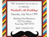 Magnetic Birthday Party Invitations Red Teal Mustache Birthday Magnetic Invitation Zazzle