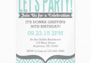 Magnetic Birthday Party Invitations Teal Gray Modern Magnetic Birthday Invitations Zazzle