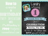 Make A Birthday Invitation Online for Free How to Create An Invitation In Picmonkey