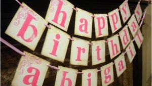 Make A Happy Birthday Banner Items Similar to Happy Birthday Banner Customized with