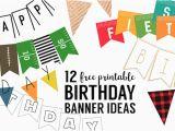 Make A Happy Birthday Banner Online Free Free Printable Birthday Banner Ideas Paper Trail Design