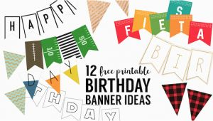 Make A Happy Birthday Banner Online Free Free Printable Birthday Banner Ideas Paper Trail Design