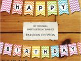 Make A Happy Birthday Banner Online Free Items Similar to Instant Download Rainbow Diy Party