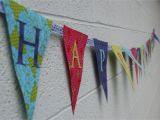 Make A Happy Birthday Banner Online How to Make A Fabric Happy Birthday Banner Using A Cricut